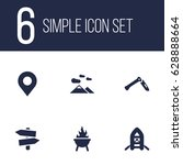 set of 6 picnic icons set...