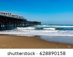 pacific beach in san diego ... | Shutterstock . vector #628890158