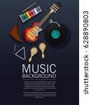 background with musical... | Shutterstock .eps vector #628890803