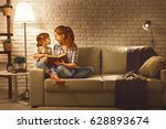 family before going to bed... | Shutterstock . vector #628893674