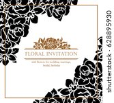 romantic invitation. wedding ... | Shutterstock .eps vector #628895930