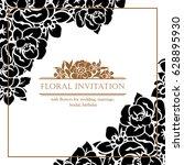 romantic invitation. wedding ... | Shutterstock .eps vector #628895930