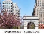 washington square park arch... | Shutterstock . vector #628898648