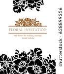 vintage delicate invitation... | Shutterstock .eps vector #628899356
