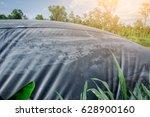 hdpe sheet biogas cover lagoon | Shutterstock . vector #628900160
