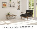white room with armchair and... | Shutterstock . vector #628909010