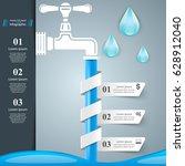 tap illustration.  infographic...   Shutterstock .eps vector #628912040