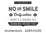 you can say no and smile only...   Shutterstock .eps vector #628915250