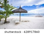 beach and tropical sea at... | Shutterstock . vector #628917860
