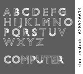 computer wire font | Shutterstock .eps vector #628926614