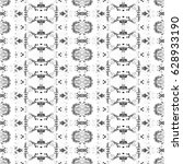 black and white pattern for... | Shutterstock . vector #628933190
