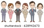 a team of businessmen and... | Shutterstock .eps vector #628942673