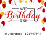 creative birthday card with...   Shutterstock .eps vector #628947944