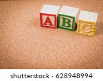 wood letter blocks alphabet abc ... | Shutterstock . vector #628948994