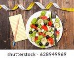 healthy salad | Shutterstock . vector #628949969
