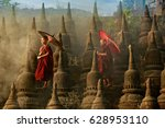 Myanmar  Buddhist Novice Monk...
