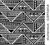 seamless vector pattern. black... | Shutterstock .eps vector #628956818