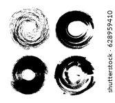 hand drawn grunge circle...   Shutterstock .eps vector #628959410