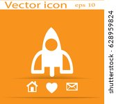 rocket icon | Shutterstock .eps vector #628959824