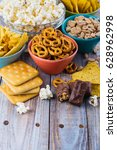 assortment of unhealthy snacks. ... | Shutterstock . vector #628962998