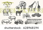 vector hand drawn sketched... | Shutterstock .eps vector #628968194