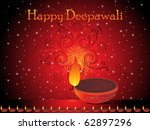 abstract diwali celebration... | Shutterstock .eps vector #62897296