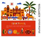 commercial illustration. travel ... | Shutterstock .eps vector #628975106