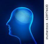 concept of brain print ... | Shutterstock .eps vector #628976630