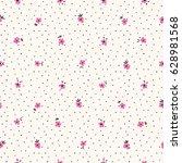 small flowers seamless pattern...   Shutterstock .eps vector #628981568