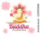 illustration of buddha purnima  ... | Shutterstock .eps vector #628985888