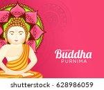 illustration of buddha purnima  ... | Shutterstock .eps vector #628986059