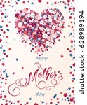 mothers day greeting card.... | Shutterstock .eps vector #628989194