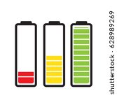 batteries with different level | Shutterstock .eps vector #628989269