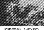 abstract halftone vector... | Shutterstock .eps vector #628991093