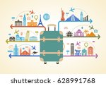infographics elements  travel... | Shutterstock .eps vector #628991768