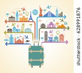 infographics elements  travel... | Shutterstock .eps vector #628991876