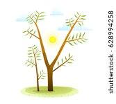 summer sunny background... | Shutterstock .eps vector #628994258