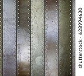 steel metal plate background  3d | Shutterstock . vector #628994630