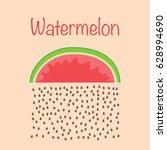 watermelon raining  dropping... | Shutterstock .eps vector #628994690