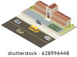 isometric school illustration. | Shutterstock .eps vector #628996448