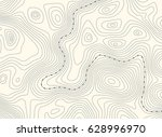topographic map with border ... | Shutterstock .eps vector #628996970