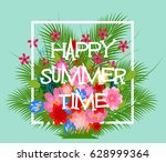 summer time typographical... | Shutterstock .eps vector #628999364