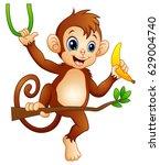 vector illustration of cartoon... | Shutterstock .eps vector #629004740