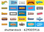bravo text for title or...   Shutterstock . vector #629005916