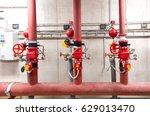 sprinkler wet alarm valves | Shutterstock . vector #629013470
