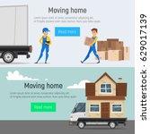 vector cartoon style moving... | Shutterstock .eps vector #629017139