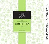 tea seamless background with... | Shutterstock .eps vector #629021918