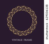 gold decorative frame. vector... | Shutterstock .eps vector #629036138