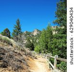 Small photo of Spring Hiking Trail at Eldorado Canyon State Park in Colorado - distant peaks