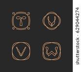 vector letters t  u  v  w logo... | Shutterstock .eps vector #629044274
